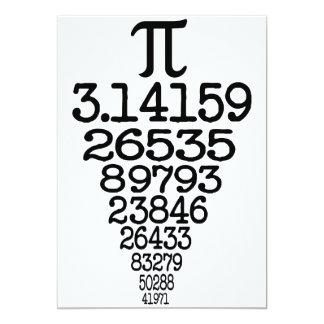 "Pi Day compleye 3.14 5"" X 7"" Invitation Card"