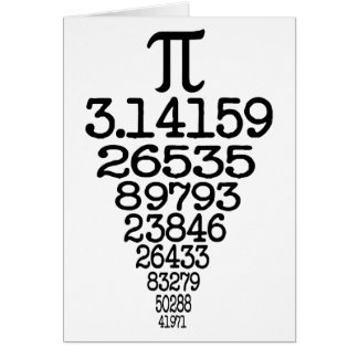 Pi Day compleye 3.14 Greeting Card