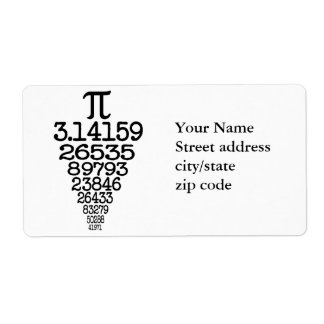 Pi Day compleye 3.14 Shipping Label
