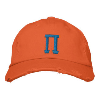 Pi Day Embroidered Hats
