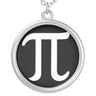 Pi Day Geek Silver Plated Necklace
