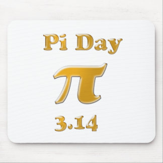 Pi Day Gold on White Mouse Pad