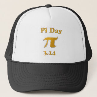 Pi Day Gold Trucker Hat