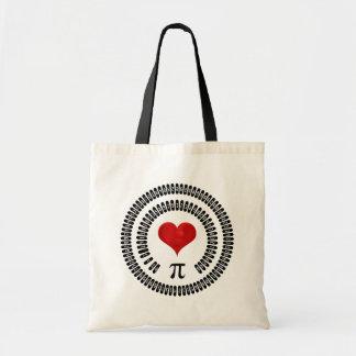 Pi Day Heart Math Digits 3.14 Mathematics Love Tote Bag