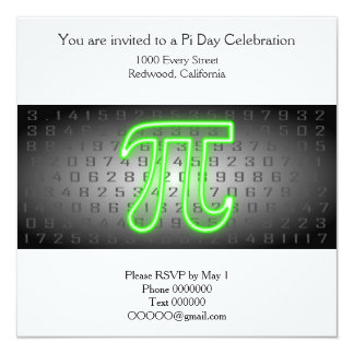 Pi Day Part Invitation