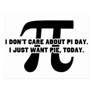 Pi Day Pie Day Postcard