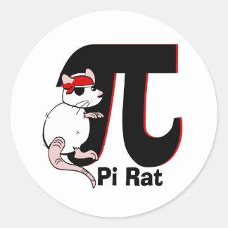 Pi Day/ Pirate Classic Round Sticker