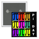 Pi Day Pop Art Pins