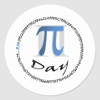 Pi_Day_Poster Classic Round Sticker