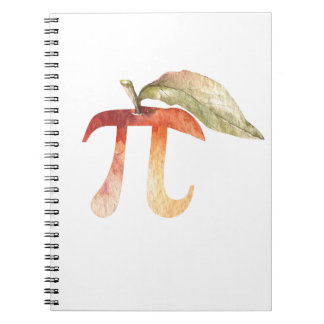 Pi Day Symbol, Apple Pie. Math Science Humor Notebook