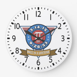 Pi Day Symbol for Math Nerds Wall Clock
