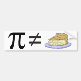 pi-does-not-equal-pi bumper sticker