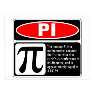 Pi Explanation Postcard