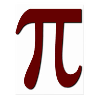 Pi - Funny Math Gear Postcard
