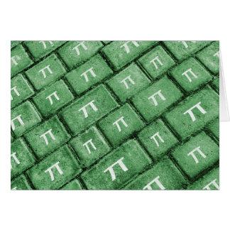 Pi Grunge Style Pattern Card