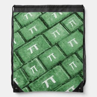 Pi Grunge Style Pattern Drawstring Bag