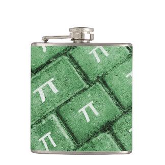 Pi Grunge Style Pattern Hip Flask