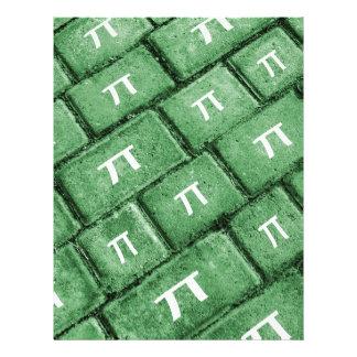 Pi Grunge Style Pattern Letterhead