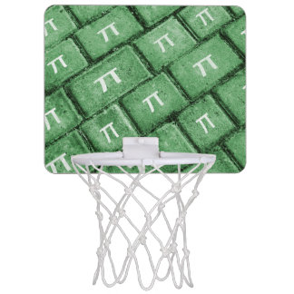 Pi Grunge Style Pattern Mini Basketball Hoop