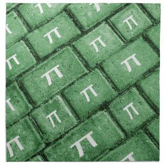 Pi Grunge Style Pattern Napkin