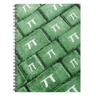 Pi Grunge Style Pattern Notebook