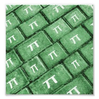Pi Grunge Style Pattern Photo Print