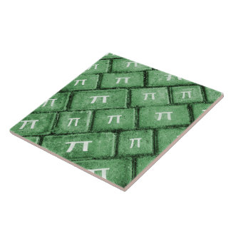 Pi Grunge Style Pattern Tile