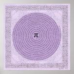 Pi in a Spiral ~ Math as Art Poster