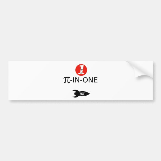 PI-IN-ONE Oil Bumper Sticker