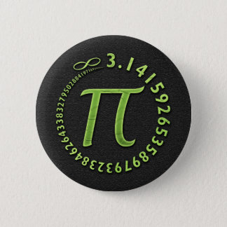 Pi in the round 2 inch round button