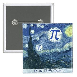 Pi in the Sky 2 Inch Square Button