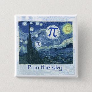 Pi in the Sky Gift Ideas 2 Inch Square Button
