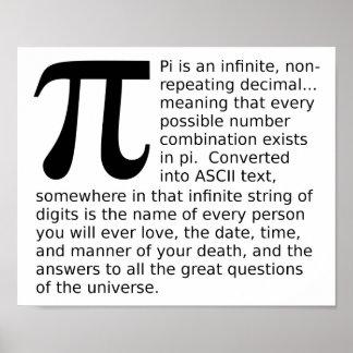 Pi infini répond à l affiche drôle