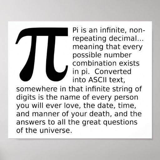 Pi infini répond à l'affiche drôle