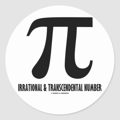 Pi Irrational And Transcendental Number (Math) Stickers