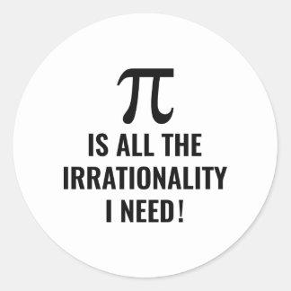 Pi Irrationality Classic Round Sticker