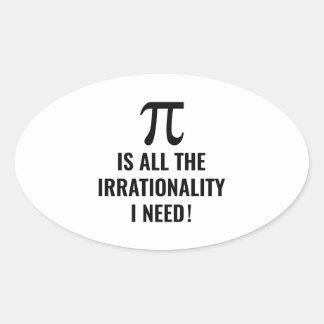 Pi Irrationality Oval Sticker