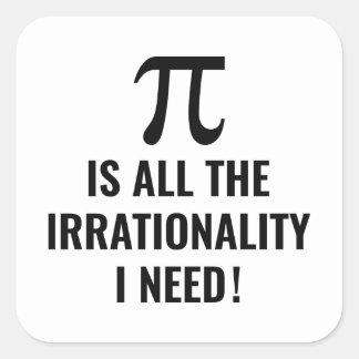 Pi Irrationality Square Sticker