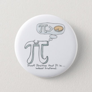 Pi is Indeed Irrational 2 Inch Round Button