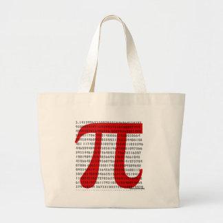 pi large tote bag