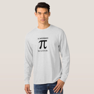Pi Master With Pi Symbol and Value T-Shirt