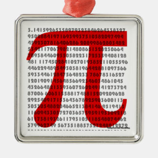 pi metal ornament