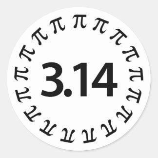 Pi Number Design Round Sticker
