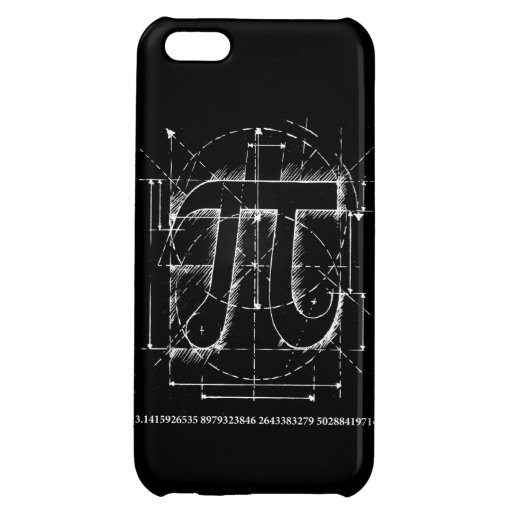 Pi Number Drawing Cover For iPhone 5C