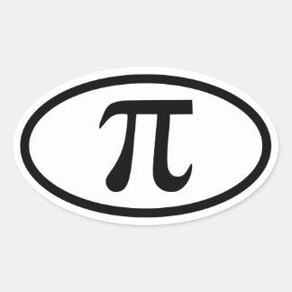 Pi Oval Sticker
