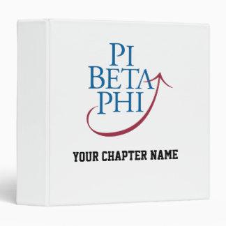 Pi Phi Logo 3 Ring Binder