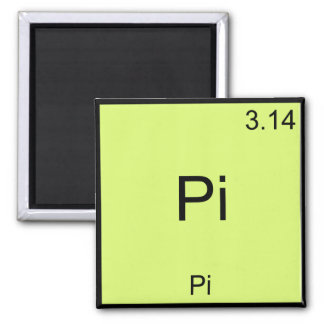 Pi - Pi Funny Math Element Chemistry T-Shirt Square Magnet