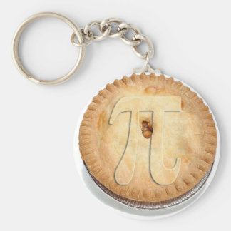 PI PIE CRUST 3.14 BASIC ROUND BUTTON KEYCHAIN