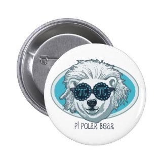 Pi Polar Bear 2 Inch Round Button
