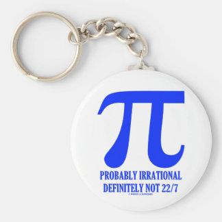 Pi Probably Irrational Definitely Not 22/7 (Blue) Basic Round Button Keychain